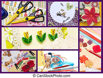 scrapbooking - collage - hand made scrapbooking post card ...