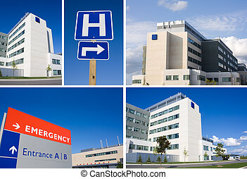 collage, hospital, moderno