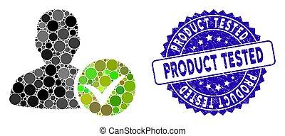 collage, icône, timbre, essayé, patient, ok, détresse, produit