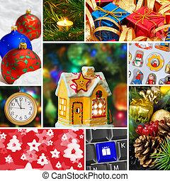 collage, Immagini, Natale