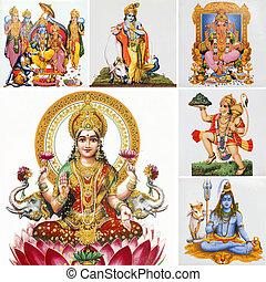 collage, indù, dii
