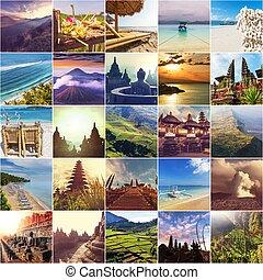collage, indonésie