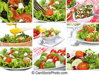 collage, insalata