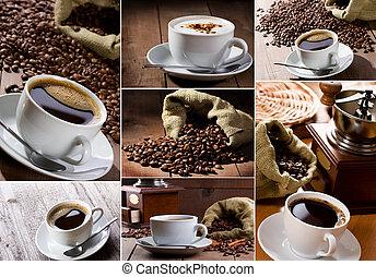 collage, kaffe