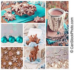 collage, kerstmis