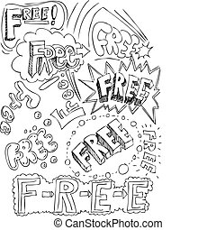 collage, libero, parole
