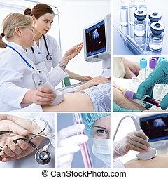 collage, médico