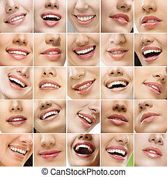 smiles - Collage, made of many different smiles