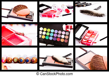 collage, make-up