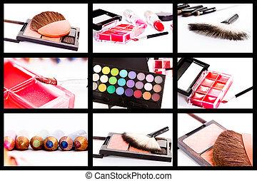 collage, make-up