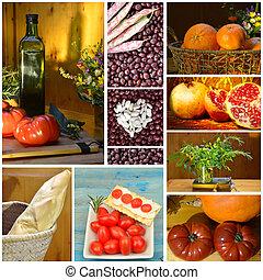 collage, manger sain