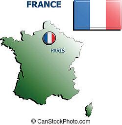 collage map flag badge france