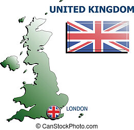 collage map flag badge uk