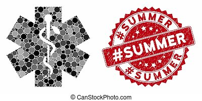 Collage Medical with Scratched #Summer Stamp