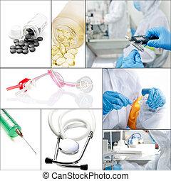 collage, medico