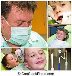 collage, medycyna, stomatologiczny