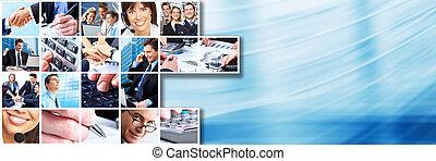 collage., mensen zaak, team