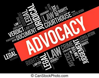 collage, mot, advocacy, nuage