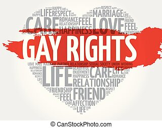 collage, mot, gay, nuage, droits