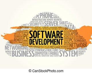 collage, mot, nuage, logiciel
