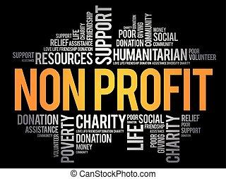 collage, mot, nuage, non, profit
