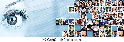 collage., národ povolání, mužstvo
