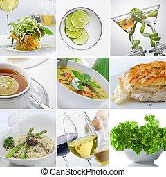 collage, nourriture