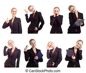 collage of a young and successful business woman - Business...