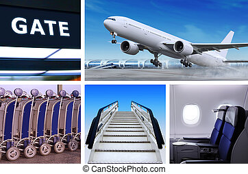 collage of airport