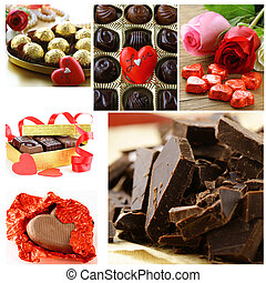 collage of assorted chocolate candy