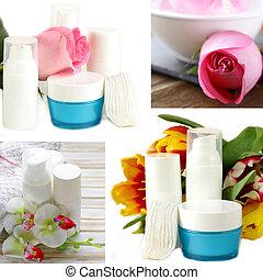 collage of assortment jars creams