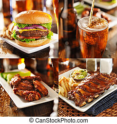 collage of barbecued food