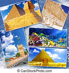 Collage of beautiful Egypt . Africa. - Collage of beautiful...