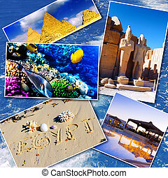 Collage of beautiful Egypt . Africa.