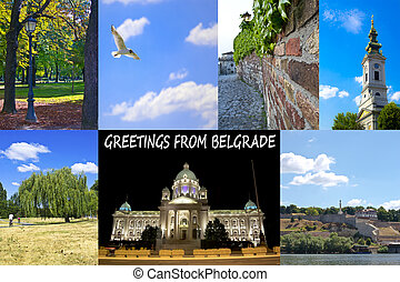 Collage of belgrade serbia
