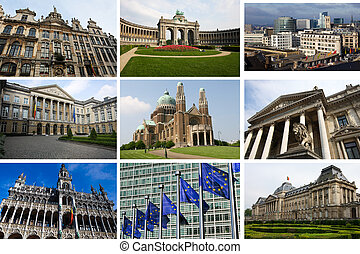 Collage of Brussels landmarks