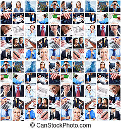 Collage of business people. - Business people group collage....