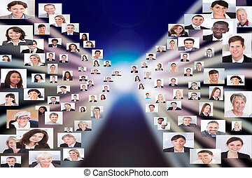 Collage Of Business People - Collage of multiethnic business...