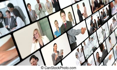 Collage of business videos
