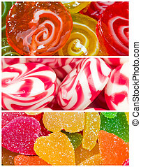 Collage of candy