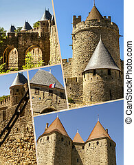Collage of Carcassonne,France (my photos)