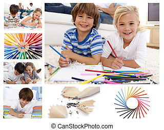 Collage of children drawing