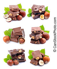 Collage of chocolate.