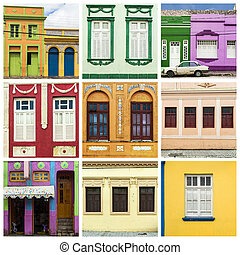 Collage of colorful house
