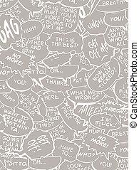 Collage of comic book bubbles - Reserve comic book bubble...
