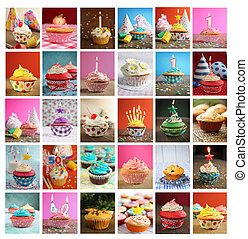 Collage of cupcakes