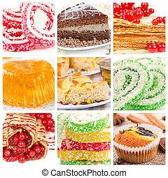 Collage of dessert