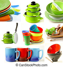 collage of different cookware