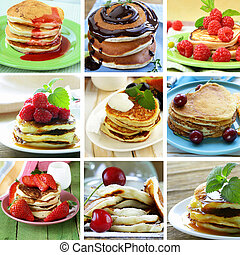 collage of different pancakes