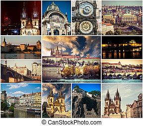 picturesque Prague sights and landscapes